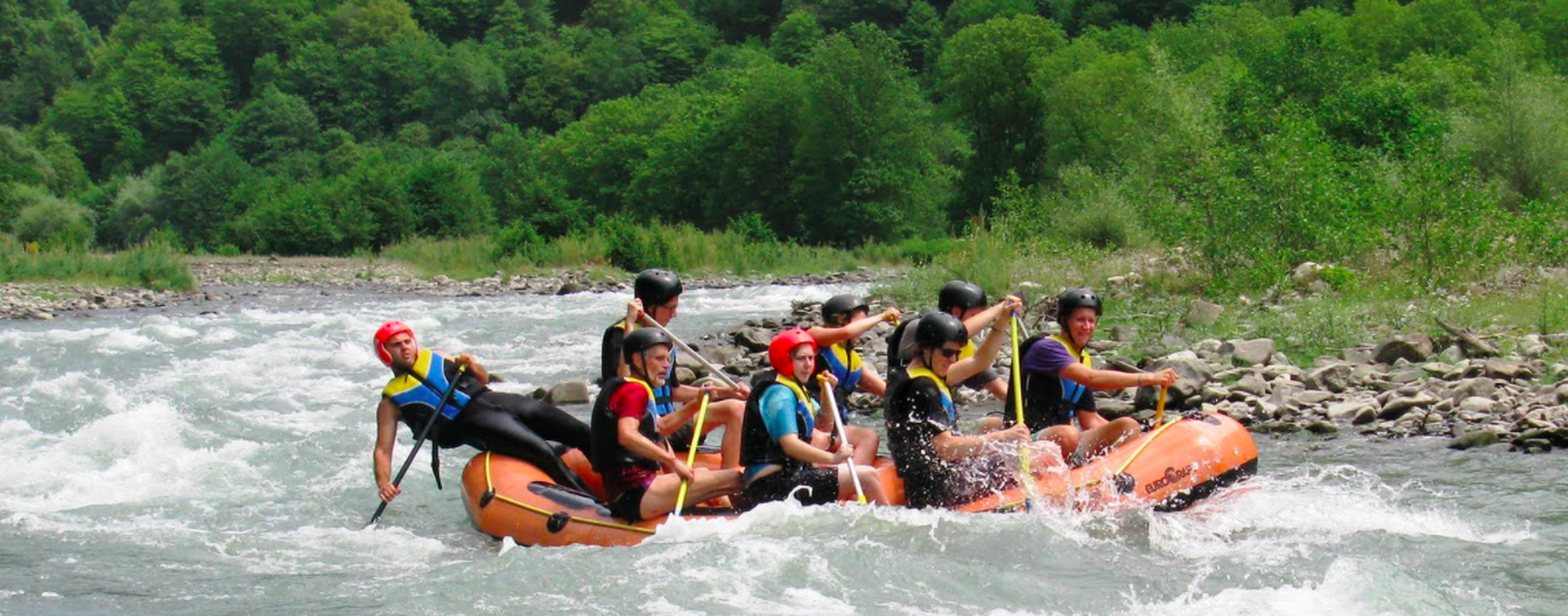 One day corporate rafting tour on Aragvi river