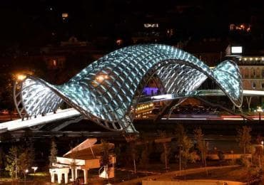Peace bridge in Tbilisi for Georgian sights and destinations