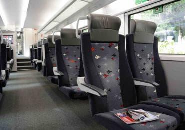 All'interno del treno da Tbilisi a Batumi