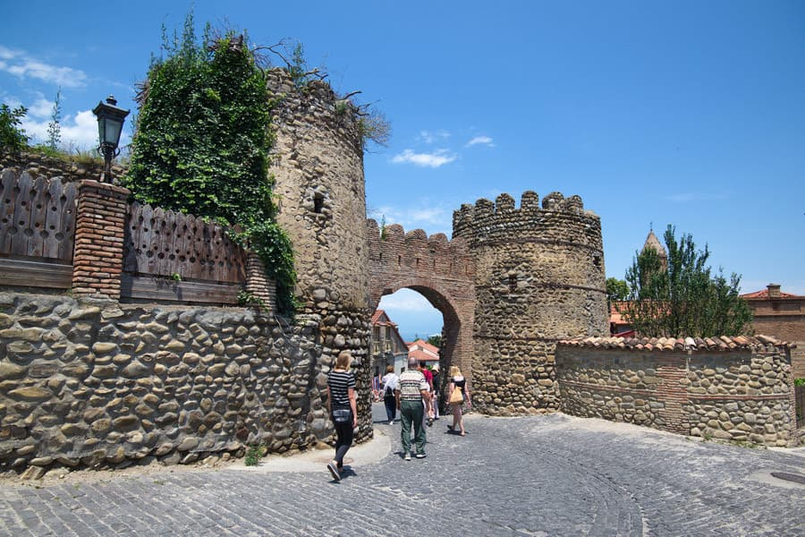 Sighnaghi city walls entrance