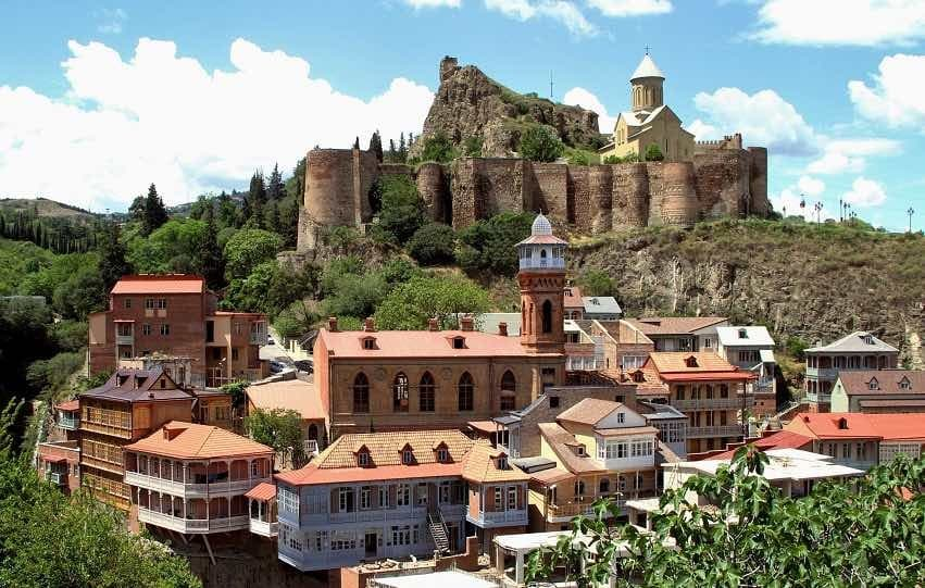 Tbilisi Old Town view