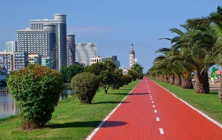 Il lungomare di Batumi