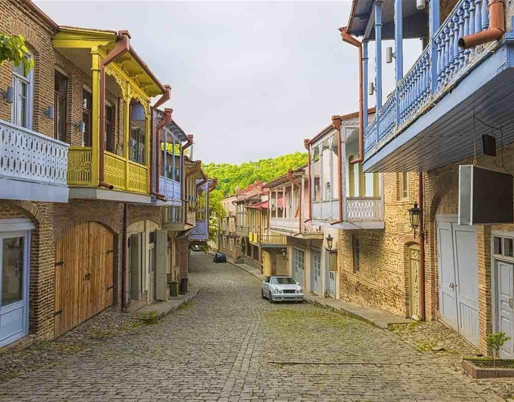 Streets of Sighnaghi, Kakheti, Georgia