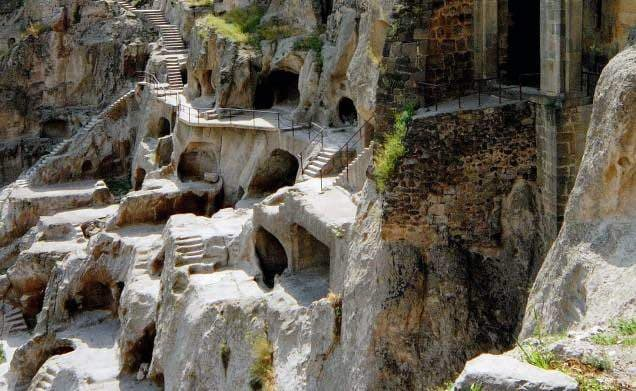 Part of Vardzia cave town in South Georgia