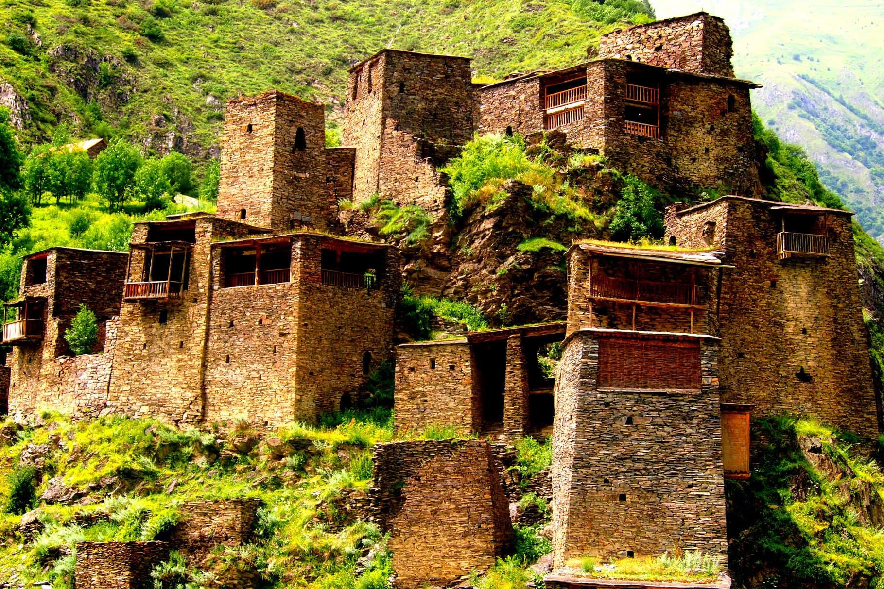 Ancient Georgian village Mutso