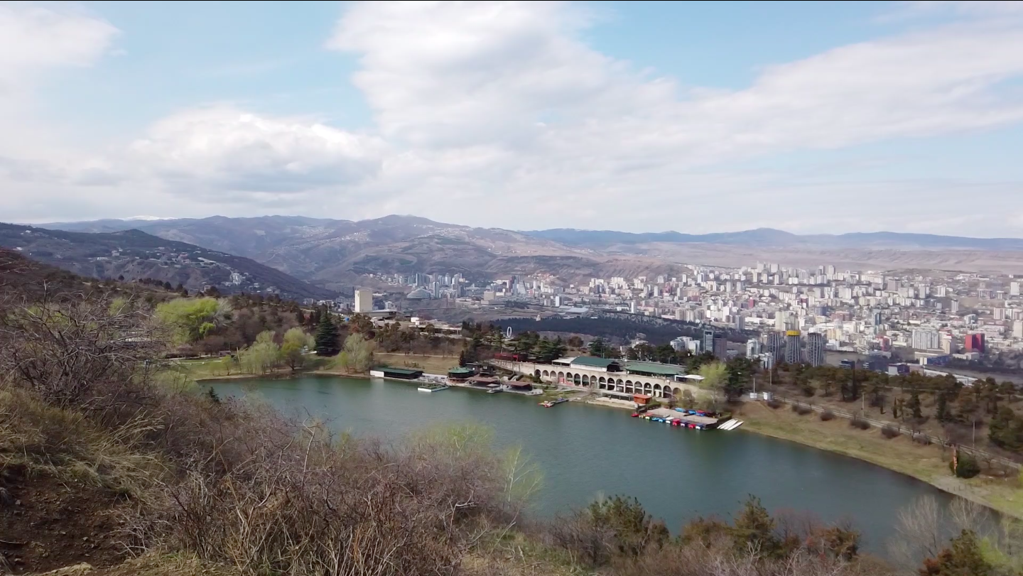 View over the Turtle lake in Tbilisi