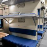 Open carriage platskart cabin of Tbilisi Yerevan train